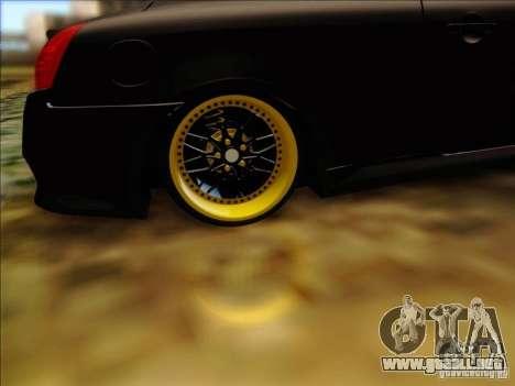 Infiniti G37 HellaFlush para visión interna GTA San Andreas