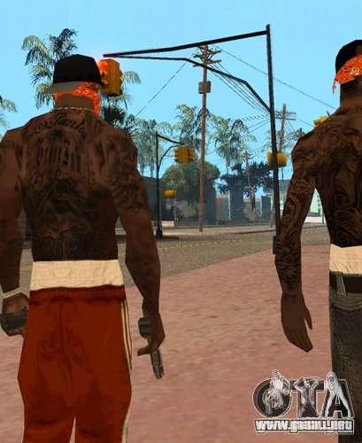 Bandas de reemplazo, tatuajes, ropa, etc.. para GTA San Andreas segunda pantalla