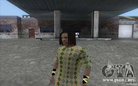 Rasta ped para GTA San Andreas