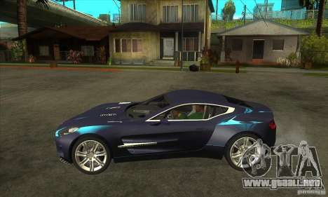 Aston Martin One-77 para GTA San Andreas left