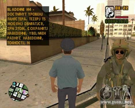 Policía rusa piel para GTA San Andreas segunda pantalla