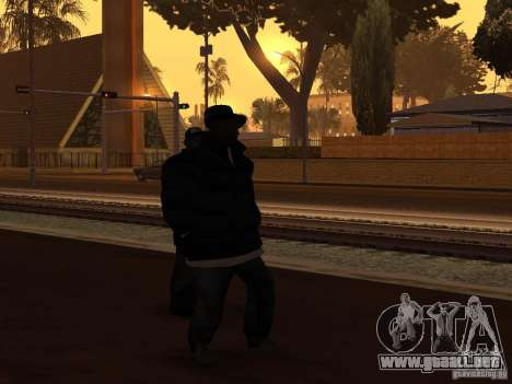 Ropa de invierno para Ballas para GTA San Andreas segunda pantalla