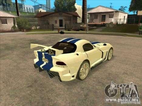 Dodge Viper from MW para la visión correcta GTA San Andreas