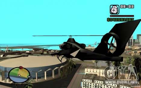 Urban Strike helicopter para la visión correcta GTA San Andreas