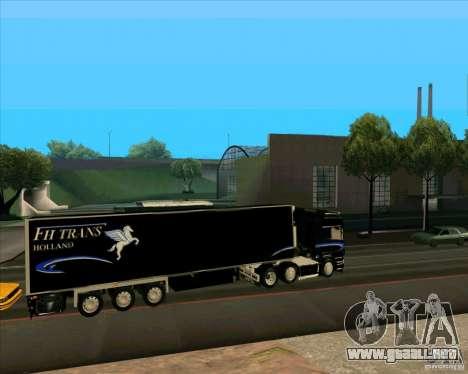 Remolque para el Scania R620 Pimped para GTA San Andreas left