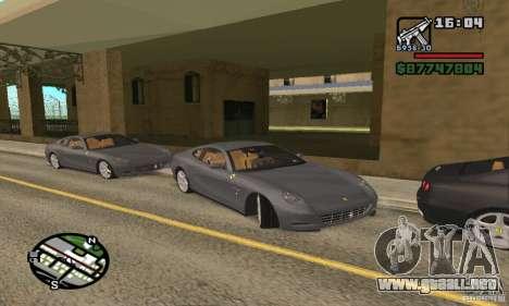 Ferrari 612 Scaglietti 2005 para GTA San Andreas vista posterior izquierda