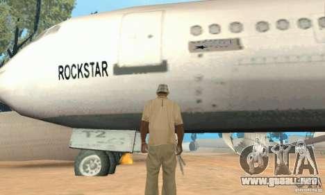 Un aeropuerto abandonado en el desierto para GTA San Andreas sexta pantalla