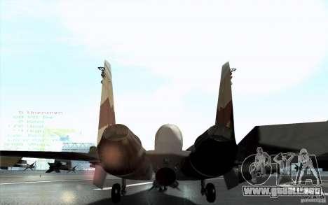 El Su-37 Terminator para GTA San Andreas vista posterior izquierda