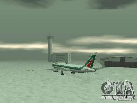 Boeing 767-300 Alitalia para la visión correcta GTA San Andreas