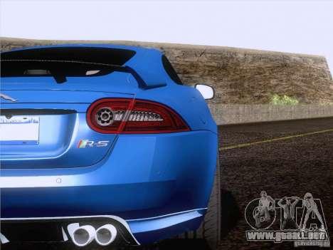 Jaguar XKR-S 2011 V2.0 para vista lateral GTA San Andreas