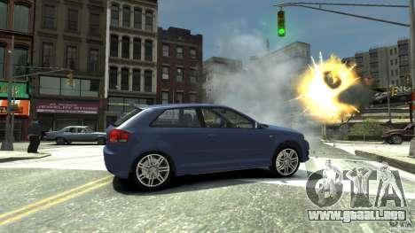 Audi S3 2006 v1.1 no es tonirovanaâ para GTA 4 visión correcta