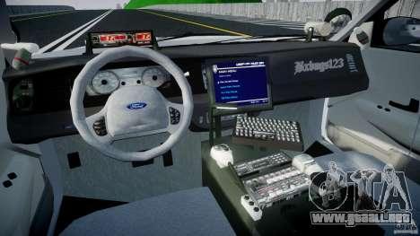 Ford Crown Victoria v2 NYPD [ELS] para GTA 4 visión correcta