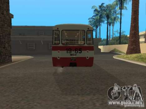 677 LIAZ para GTA San Andreas vista posterior izquierda