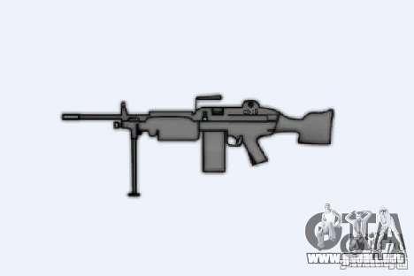 Ametralladora M249SAW para GTA 4 adelante de pantalla