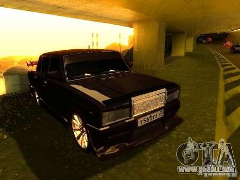 VAZ 2107 X-estilo para GTA San Andreas vista hacia atrás