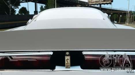 Shelby GT 500 Eleanor para GTA 4 vista desde abajo