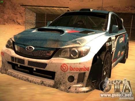 Subaru Impreza Gravel Rally para las ruedas de GTA San Andreas