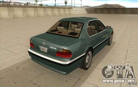BMW 750iL 1995 para vista lateral GTA San Andreas