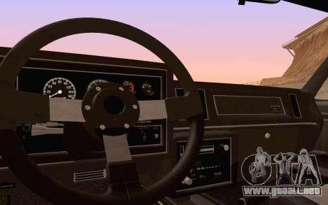 Buick GNX 1987 para las ruedas de GTA San Andreas
