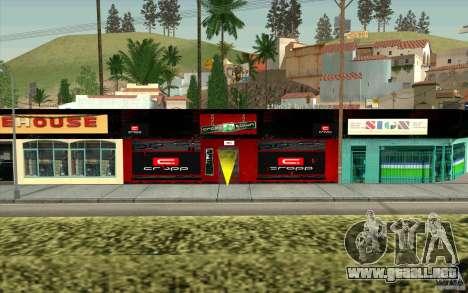 Cropp Town SHOP para GTA San Andreas segunda pantalla