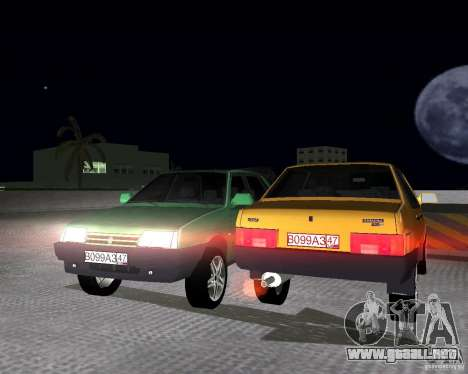 Vaz 21099 luz sintonizado para GTA Vice City visión correcta