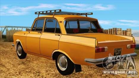 Moskvich 412 v2.0 para la visión correcta GTA San Andreas