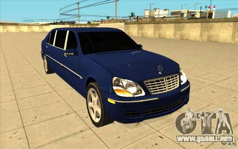 Mercedes-Benz S600 Pullman W220 para GTA San Andreas vista hacia atrás