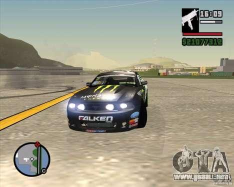 Ford Mustang GT 2010 Vaughn Gittin Jr para visión interna GTA San Andreas