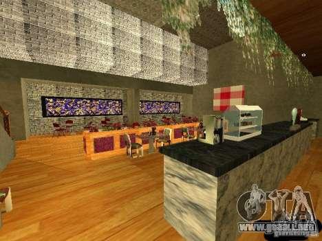 Bistro de Marco interior nuevo para GTA San Andreas tercera pantalla