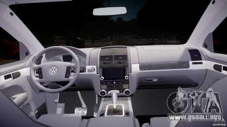 Volkswagen Touareg R50 2008 Tune (Beta) para GTA 4 visión correcta