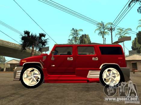Hummer H2 NFS Unerground 2 para GTA San Andreas left