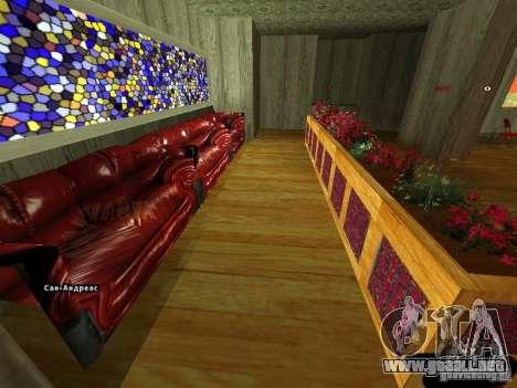 Bistro de Marco interior nuevo para GTA San Andreas segunda pantalla
