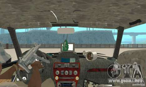 Tunning 2106 VAZ Fantasy ART para GTA San Andreas vista hacia atrás
