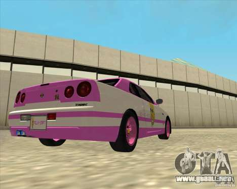 Nissan Skyline R34 Mr.SpaT para GTA San Andreas left