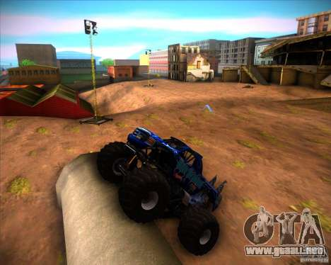 Monster Truck Blue Thunder para GTA San Andreas left