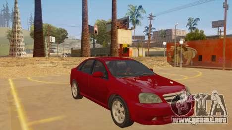 Buick Excelle para GTA San Andreas vista hacia atrás