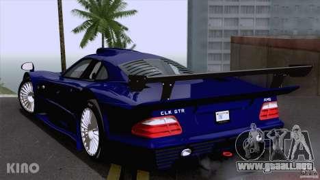 Mercedes-Benz CLK GTR Road Carbon Spoiler para GTA San Andreas vista posterior izquierda