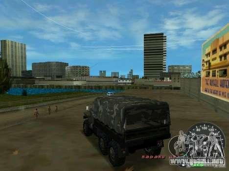 Ural 4320 Military para GTA Vice City vista lateral izquierdo