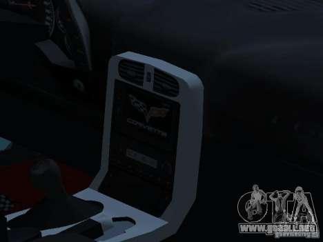 Chevrolet Corvette Stingray para visión interna GTA San Andreas