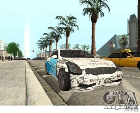 Infiniti G35 Coupe para la visión correcta GTA San Andreas
