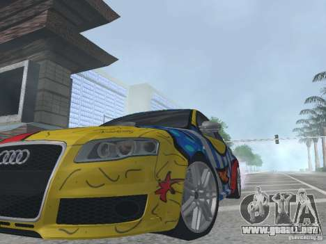 Audi RS 4 para GTA San Andreas vista hacia atrás