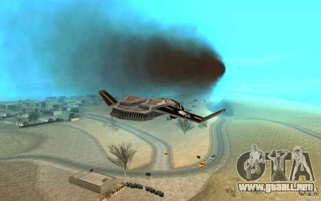 Hawk air Command and Conquer 3 para GTA San Andreas vista hacia atrás