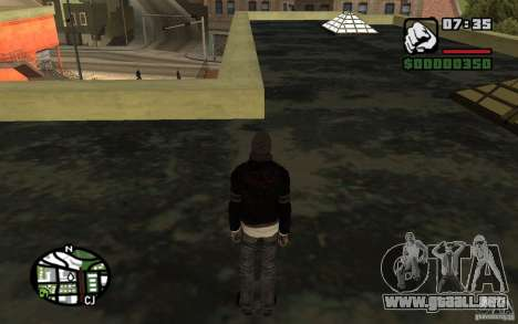 Alex Mercer v2.0 para GTA San Andreas sucesivamente de pantalla