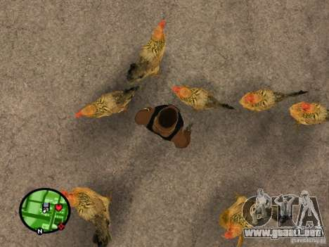 Pollos en GTA San Andreas para GTA San Andreas segunda pantalla