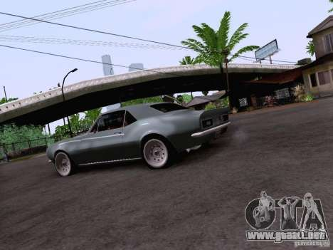 Chevrolet Camaro Z28 para GTA San Andreas vista hacia atrás