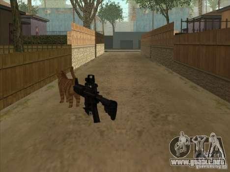 Gato en cambio silenciador en el M4 para GTA San Andreas segunda pantalla