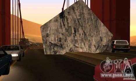 Puente destruido en San Fierro para GTA San Andreas sexta pantalla