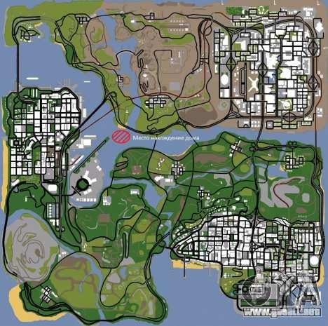 Diegoforfuns Modern House para GTA San Andreas sucesivamente de pantalla