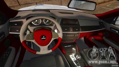 BMW X6 Hamann Evo22 no Carbon para GTA 4 vista hacia atrás