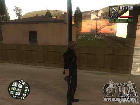 Wesker de RE5 para GTA San Andreas sucesivamente de pantalla
